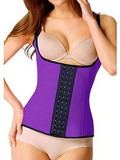 Weste Lila Trainer Taille Latex Bustiers & Korsetts