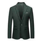 Mann Smart Einzigen Taste Blazer Slim Fit Büroarbeit Business Event