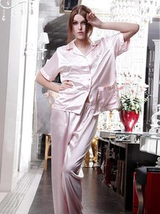 Satin Rosa Modisch Exquisit Fabelhaft Elegant Negligees