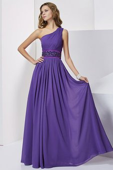 Chiffon Empire Taille Normale Taille Bodenlanges Ballkleid im Empire Stil