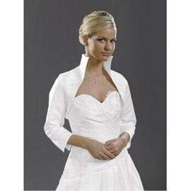 Taft Weiß Elegant Einfache Bolero