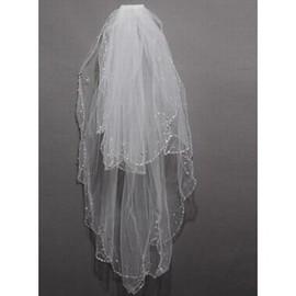 Bescheiden Elegant Kurz Brautschleier