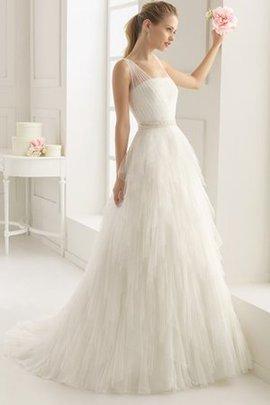 Ewiges Tüll Ärmelloses Reißverschluss Sweep Zug Brautkleid