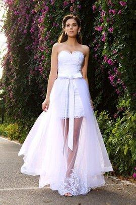 Empire Taille Tüll Meerjungfrau Reißverschluss Anständiges Brautkleid