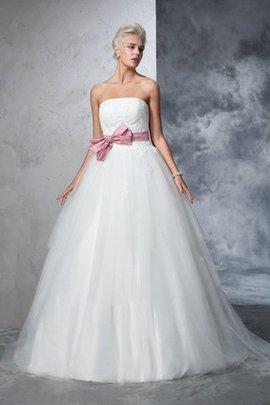 Duchesse-Linie Trägerlos Empire Taille Sittsames Brautkleid mit Rücken Schnürung