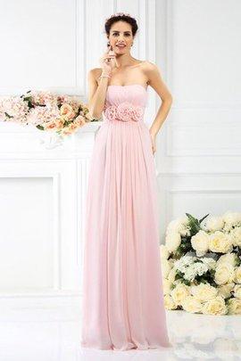A linie Ärmelloses Reißverschluss Bodenlanges Brautjungfernkleid ohne Träger