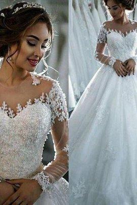 Duchesse-Linie Tüll Normale Taille Fantastisch Bodenlanges Brautkleid mit Perlen