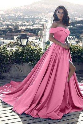 Prinzessin A-Linie Ärmellos Natürliche Taile Abendkleid mit Rüschen