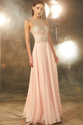 ddd072e2ee827f 80 Ärmelloses A Linie Schaufel-Ausschnitt Abendkleid aus Chiffon mit  Kristall