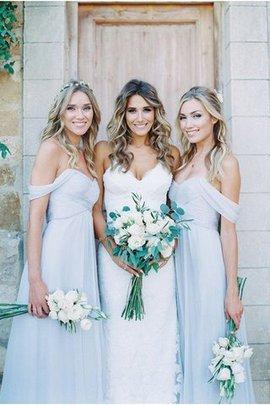 Prinzessin Ärmelloses a linie Normale Taille Bodenlanges Brautjungfernkleid