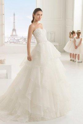 Ärmelloses Halle Romantisches Sexy Brautkleid mit Perlen