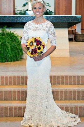 Spitze Ärmelloses Schick Sittsames Brautkleid mit Schlüsselloch Rücken