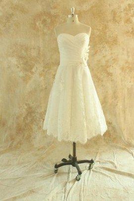 Strand Reißverschluss Schlichtes Brautkleid mit Applike mit Perlen