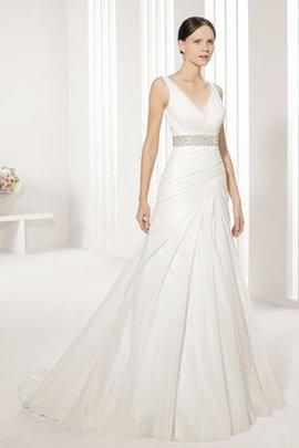 Taft Reißverschluss Rocklänge-Asymmetrisches Modern Formelles Brautkleid