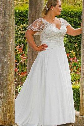 Garten Zeitloses Gericht Schleppe Gesticktes Brautkleid mit Rücken Schnürung