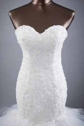 Meerjungfrau Ärmellos Normale Taille Brautkleid mit Bordüre mit Blume