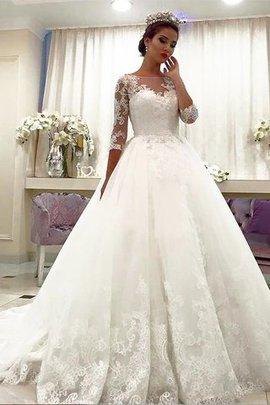 Normale Taille Duchesse-Linie Tüll Brautkleid mit Gericht Schleppe mit Bordüre