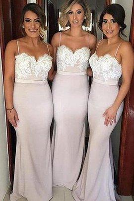 Prinzessin Herz-Ausschnitt Ärmellos Normale Taille Bodenlanges Brautjungfernkleid