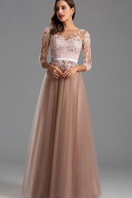 V-Ausschnitt Reißverschluss Bateau Schlichtes Abendkleid mit Empire Taille
