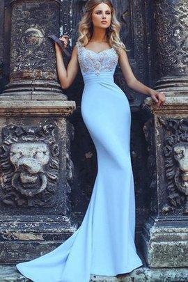 Meerjungfrau Kurze Ärmeln Plissiertes Gerüschtes Abendkleid mit Herz-Ausschnitt