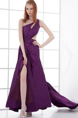 Ärmelloses Ein Schulter Rocklänge-Asymmetrisches Abendkleid mit Plissierungen
