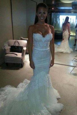 Tüll Kathedral Schleppe Extravagantes Brautkleid mit Reißverschluss mit Plissierungen