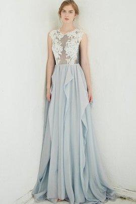 Spitze Plissiertes Sweep Zug Brautkleid mit Bordüre mit Juwel Ausschnitt