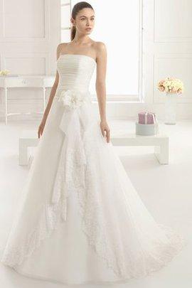 Trägerlos Kirche Bodenlanges Swing Formelles Brautkleid