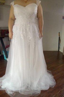Ewiges Plissiertes Reißverschluss Herz-Ausschnitt Extravagantes Brautkleid