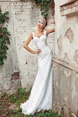 Etui Reißverschluss Luxus Brautkleid mit Rücken Schnürung mit Spaghettiträger