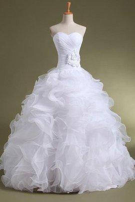 Duchesse-Linie Reißverschluss Satin Bodenlanges Brautkleid mit Bordüre