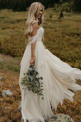 Normale Taille Prinzessin Gerüschtes Ärmelloses Hübsch A-Line Bodenlanges Brautkleid
