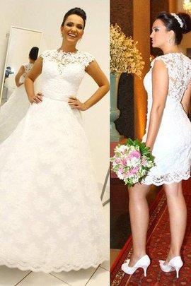 Ärmelloses Duchesse-Linie Normale Taille Bodenlanges Brautkleid mit Bordüre