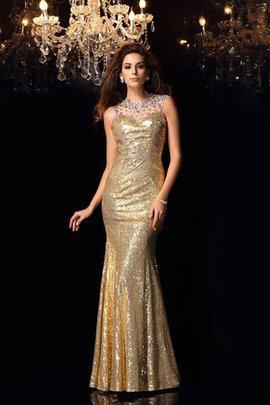 Empire Taille Meerjungfrau Stil Paillette Reißverschluss Anständiges Abendkleid