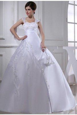 Perlenbesetztes Satin Anständiges Brautkleid mit Stickerei mit Rücken Schnürung