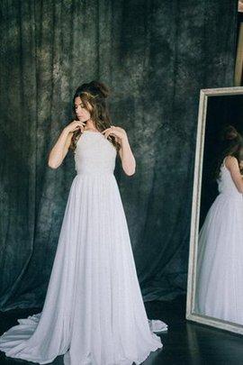 Spitze Plissiertes Ärmellos Brautkleid mit Bordüre mit Sweep Zug