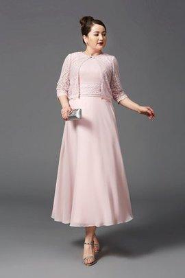 Empire Taille a linie Juwel Ausschnitt Knöchellanges Brautmutterkleid mit Bordüre