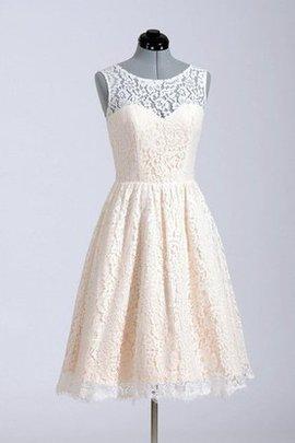 Spitze Juwel Ausschnitt Natürliche Taile Brautkleid mit Bordüre ohne Ärmeln