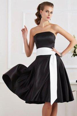 A linie Mini Knielanges Brautjungfernkleid mit Gürtel mit Schleife