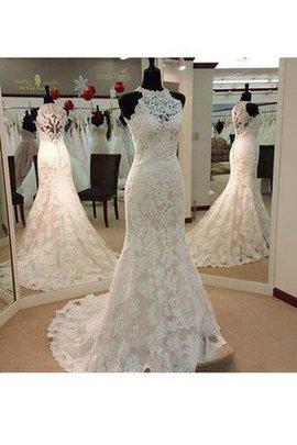 Ärmellos Bezauberndes Romantisches Konservatives Brautkleid mit Plissierungen