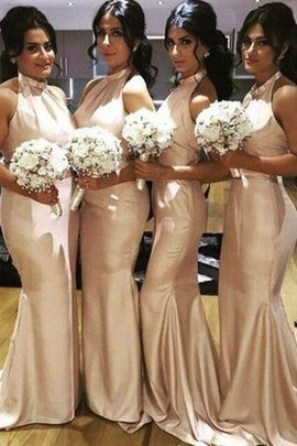 Etui Rückenfreies Nackenband Taft Reißverschluss Brautjungfernkleid