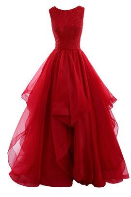 Klassisches Tüll Romantisches Göttin Brautkleid Mehrschichtiges Netzstoff Abendkleid