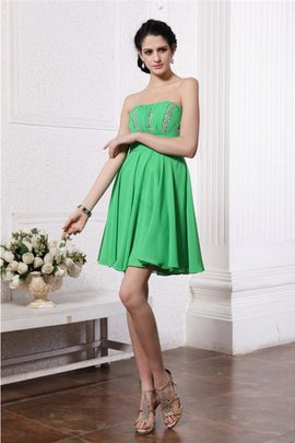 Chiffon Enganliegendes Plissiertes Normale Taille Mini Cocktailkleid
