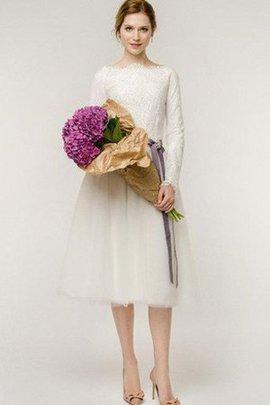 Ewiges Reißverschluss Informelles Brautkleid mit Bordüre mit Gürtel