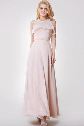 Rückenfreies Chiffon Anständiges Brautjungfernkleid mit Schleife ohne Träger