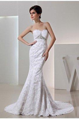 Meerjungfrau Stil Empire Taille Reißverschluss Taft Brautkleid mit Gericht Schleppe