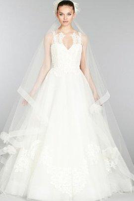 Duchesse-Linie Ärmellos Bodenlanges Brautkleid mit Bordüre mit Blume