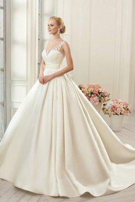 Gericht Schleppe Duchesse-Linie Romantisches Mini Brautkleid mit Knöpfen