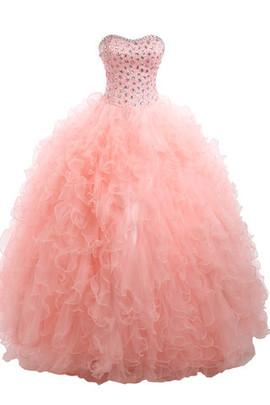 Tüll Prinzessin Ärmellos Duchesse-Linie Exklusive Netzstoff Brautkleid