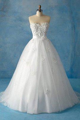 Herz-Ausschnitt Ärmellos Halle Modern Elegantes Brautkleid